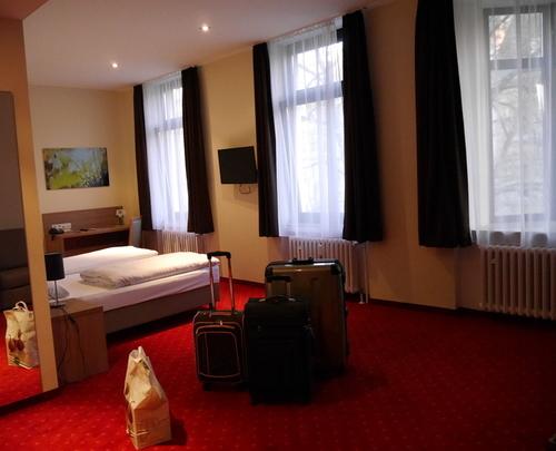 2月 デュッセルドルフのホテル~♪