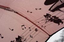 3月 日本の傘 ドイツ 雨